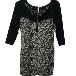 3/$30 FREE PEOPLE brocade lace dress large